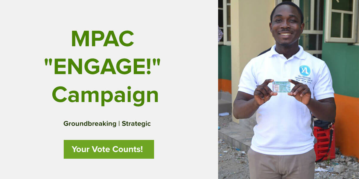 """MPAC """"Engage!"""" Campaign Banner"""
